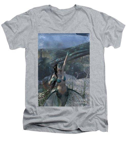 Longing For Land Men's V-Neck T-Shirt