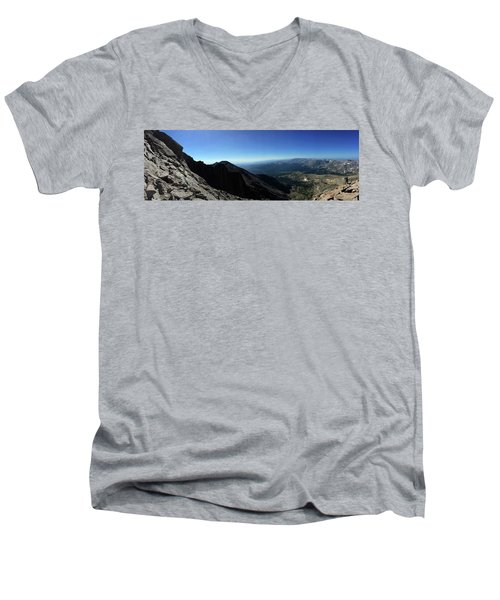 Longs Peak West Men's V-Neck T-Shirt