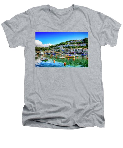 Looe In Cornwall Uk Men's V-Neck T-Shirt