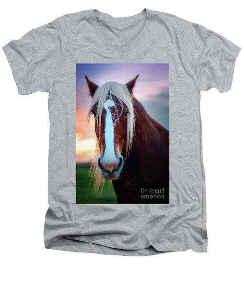 Wild Thing Men's V-Neck T-Shirt by Tamyra Ayles