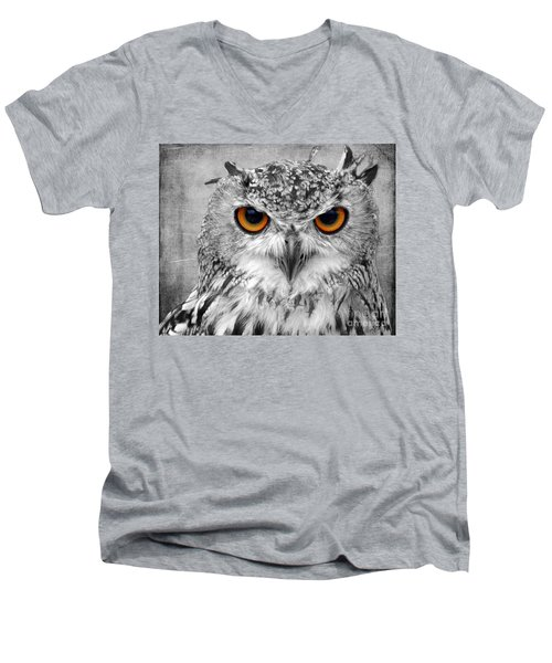 Look Into My Eyes Men's V-Neck T-Shirt by Lynn Bolt