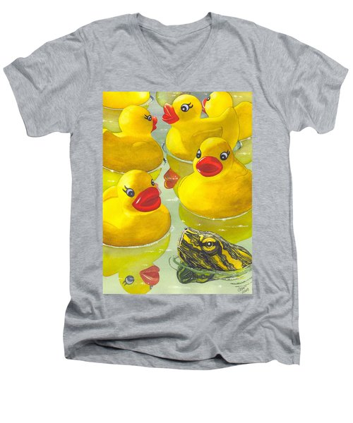 Look Its A Turtle Head Men's V-Neck T-Shirt