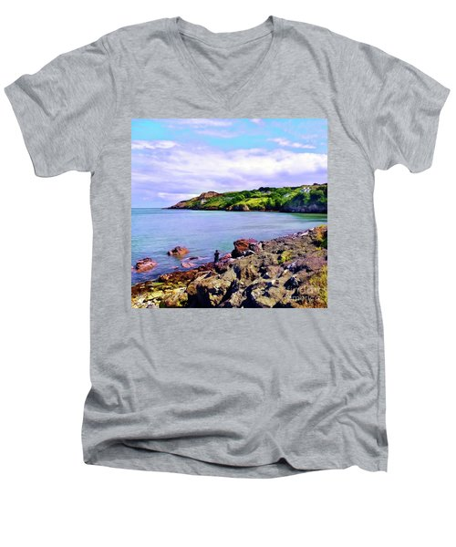 Looking Across Men's V-Neck T-Shirt by Judi Bagwell