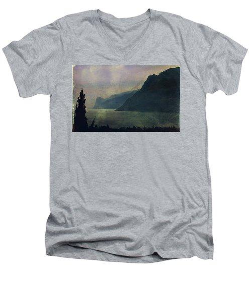 Looking At The Lake... Men's V-Neck T-Shirt by Vittorio Chiampan