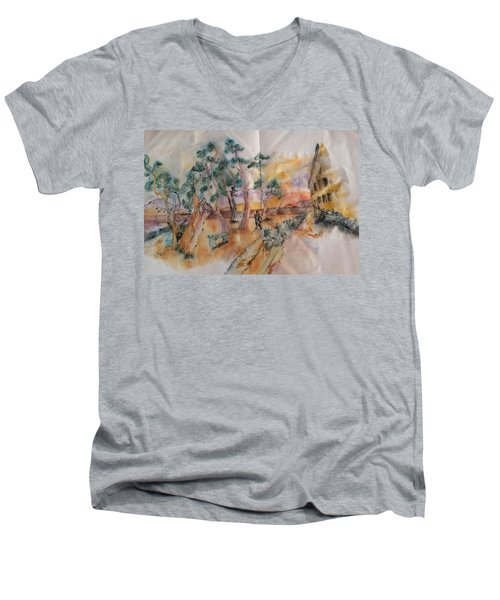 Looking At Van Gogh Album Men's V-Neck T-Shirt