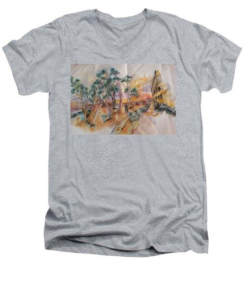 Looking At Van Gogh Album Men's V-Neck T-Shirt
