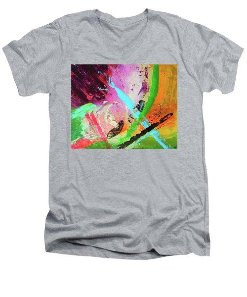 Looking Back Men's V-Neck T-Shirt by Everette McMahan jr