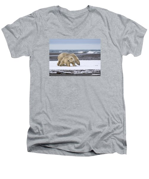 Looking Back In The Arctic Men's V-Neck T-Shirt