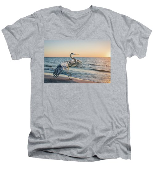 Looking For Supper Men's V-Neck T-Shirt by Brian Tarr