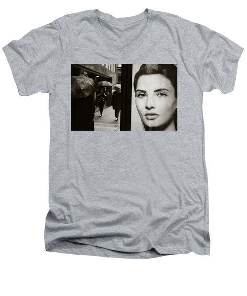 Men's V-Neck T-Shirt featuring the photograph Looking For Your Eyes by Empty Wall