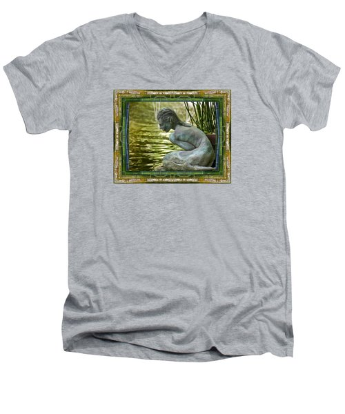 Looking In Men's V-Neck T-Shirt by Bell And Todd