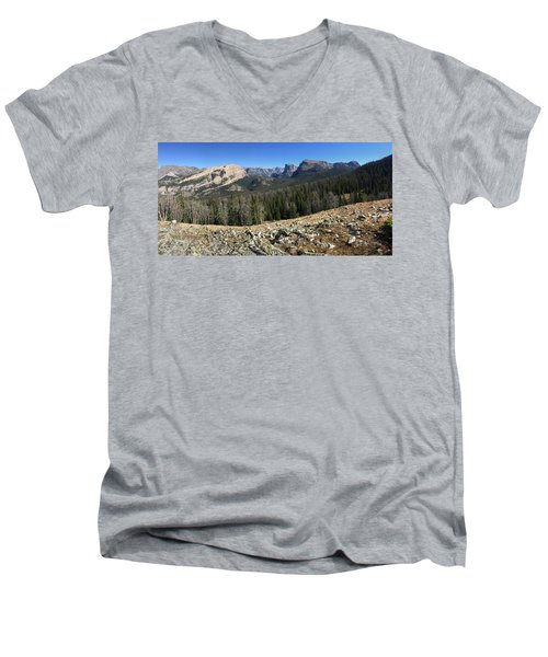 Looking Into The Bridger Wild Lands Men's V-Neck T-Shirt