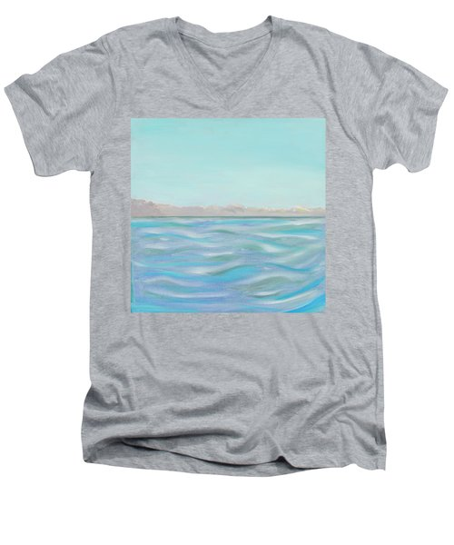 Looking South Tryptic Part 1 Men's V-Neck T-Shirt