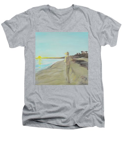 Looking South Tryptic Part 3 Men's V-Neck T-Shirt