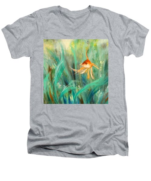 Looking - Square Painting Men's V-Neck T-Shirt