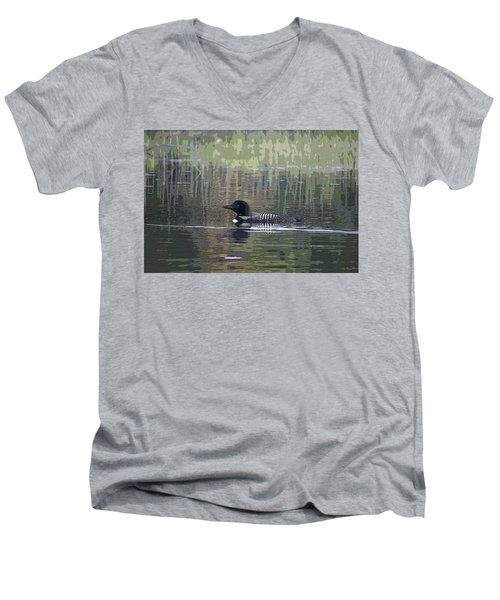 Loon Men's V-Neck T-Shirt