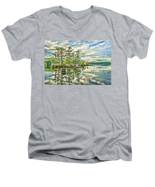 Loon Island Men's V-Neck T-Shirt