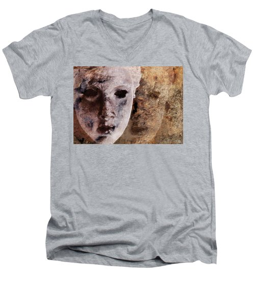 Loosing The Real You Behind The Mask Men's V-Neck T-Shirt by Gun Legler