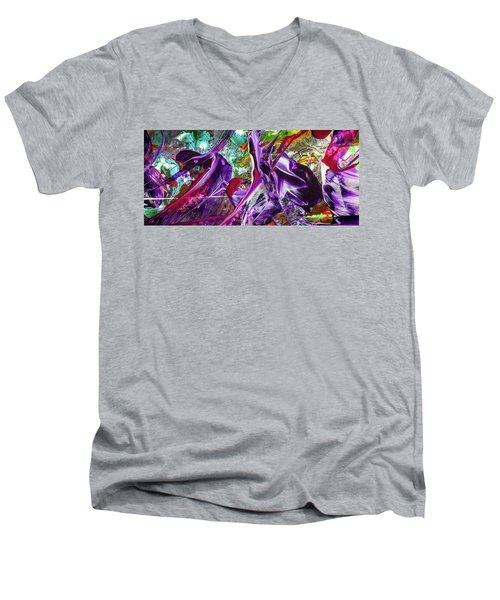 Lord Of The Rings Art - Colorful Modern Abstract Painting Men's V-Neck T-Shirt by Modern Art Prints