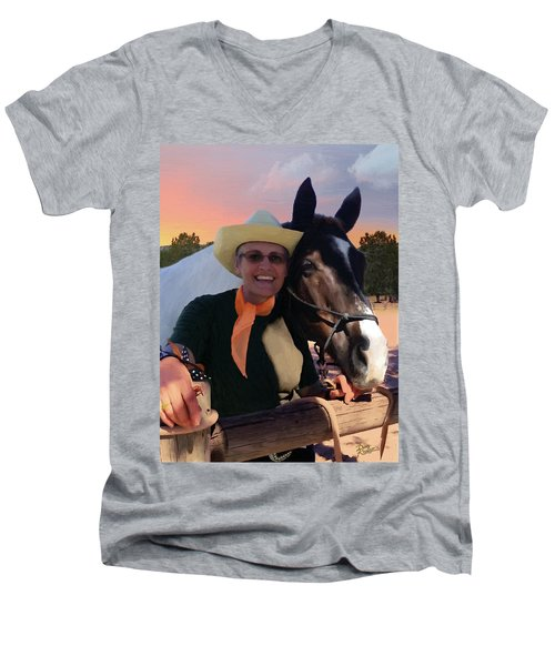 Lori And Paco Men's V-Neck T-Shirt