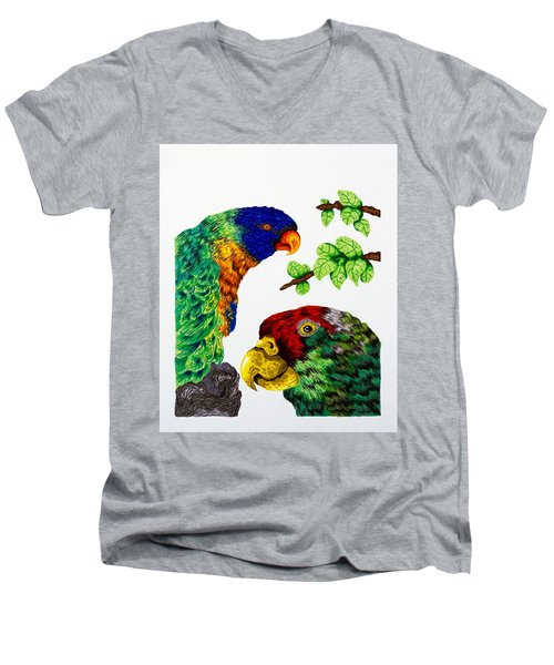 Lorikeets Men's V-Neck T-Shirt