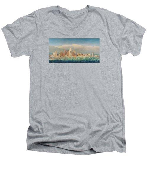 Los Angeles Sunset Men's V-Neck T-Shirt