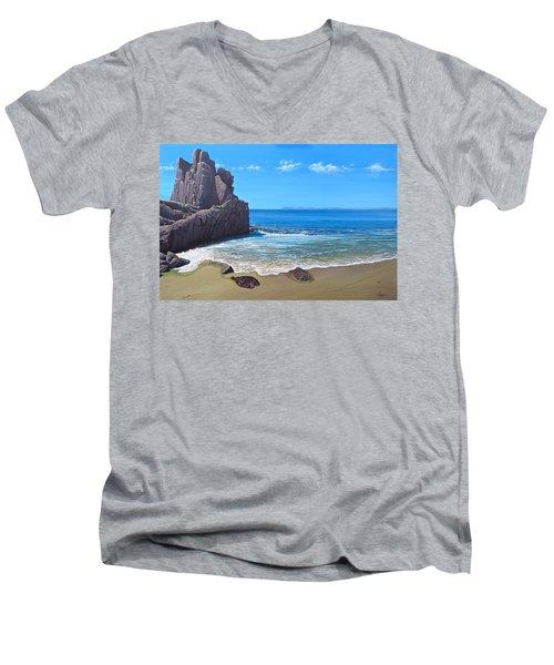 Los Muertos Beach Men's V-Neck T-Shirt