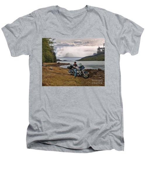 Lost At Sea Men's V-Neck T-Shirt
