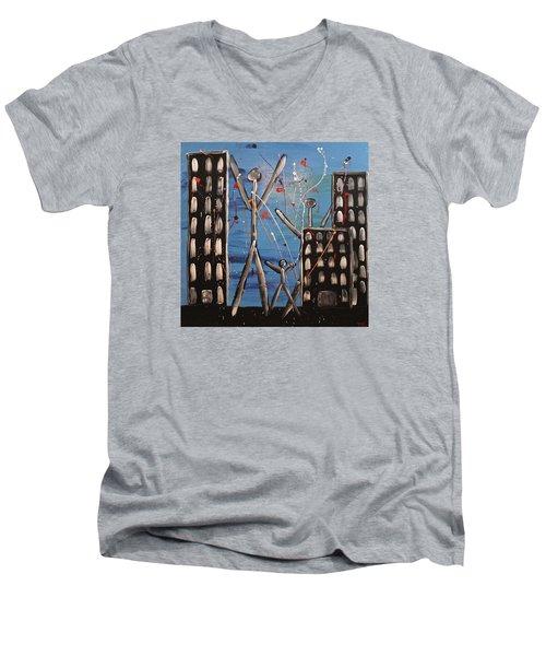 Lost Cities 13-003 Men's V-Neck T-Shirt