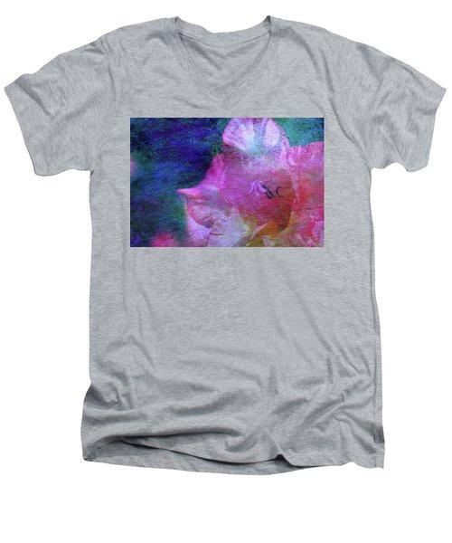 Lost Gladiolus Blossom 3018 L_2 Men's V-Neck T-Shirt