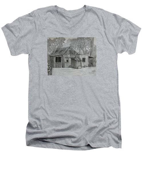 Lost In The Woods  Men's V-Neck T-Shirt by Tony Clark