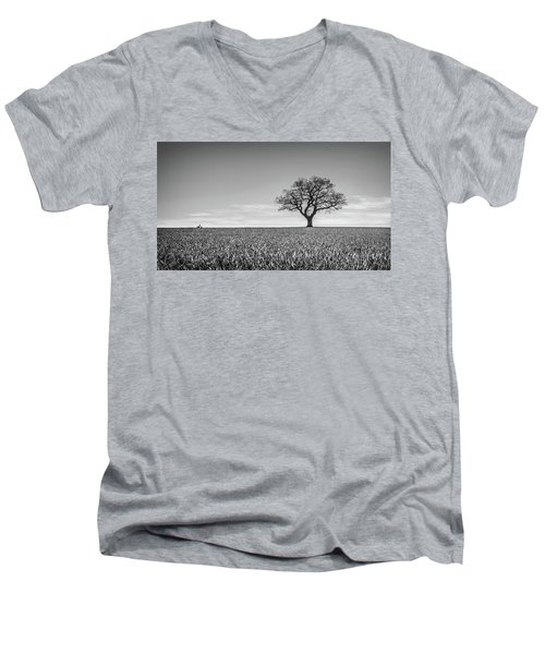 Men's V-Neck T-Shirt featuring the photograph Lost by Nick Bywater