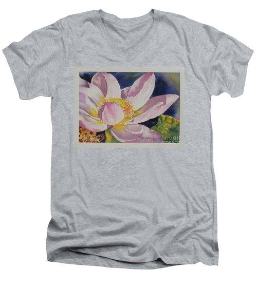 Lotus Bloom Men's V-Neck T-Shirt