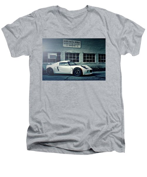 Men's V-Neck T-Shirt featuring the photograph Lotus Elise by Joel Witmeyer
