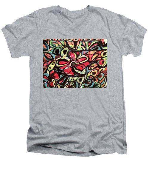 Lotus Petals Men's V-Neck T-Shirt