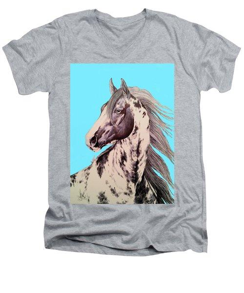 Loud Paint 09925 Men's V-Neck T-Shirt by Cheryl Poland