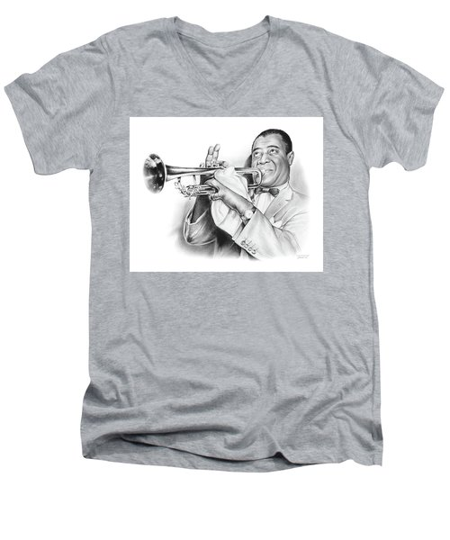 Louis Armstrong Men's V-Neck T-Shirt