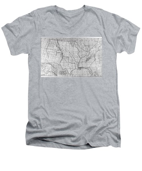 Louisiana Purchase Map Men's V-Neck T-Shirt