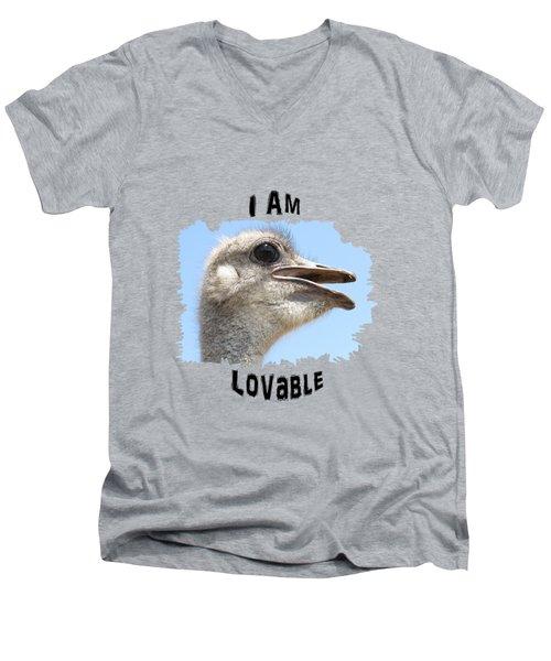 Lovable Men's V-Neck T-Shirt