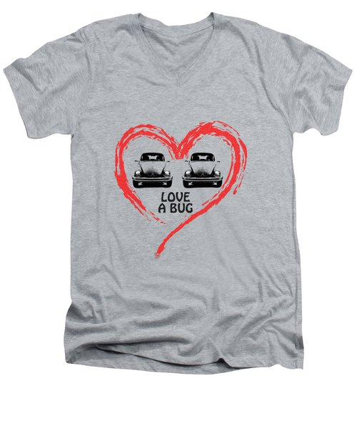 Love A Bug Men's V-Neck T-Shirt