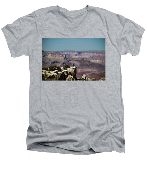 Love At The Grand Canyon Men's V-Neck T-Shirt