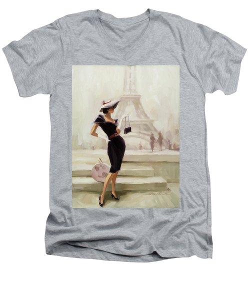 Love, From Paris Men's V-Neck T-Shirt
