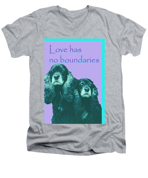 Love Had No Boundaries Men's V-Neck T-Shirt