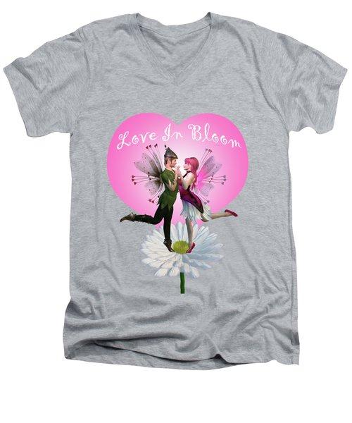 Love In Bloom Men's V-Neck T-Shirt