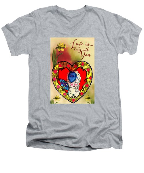 Love Is Men's V-Neck T-Shirt by Diana Boyd