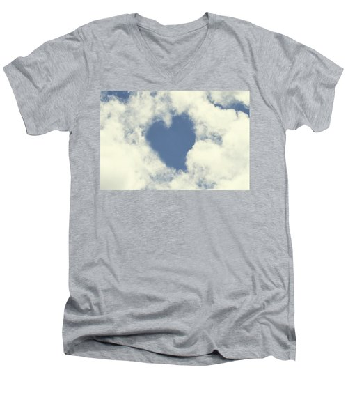 Love Is In The Air Men's V-Neck T-Shirt by Peggy Collins
