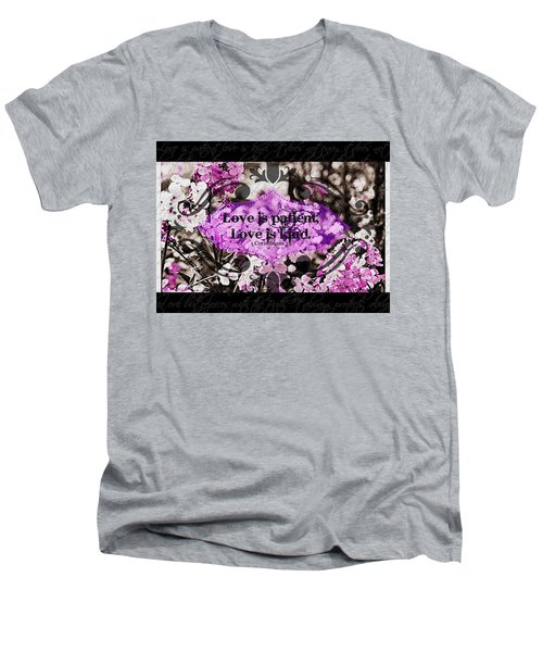 Love Is Kind Men's V-Neck T-Shirt