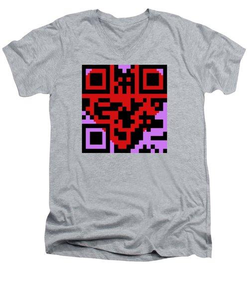 Love Men's V-Neck T-Shirt by Ismael Cavazos