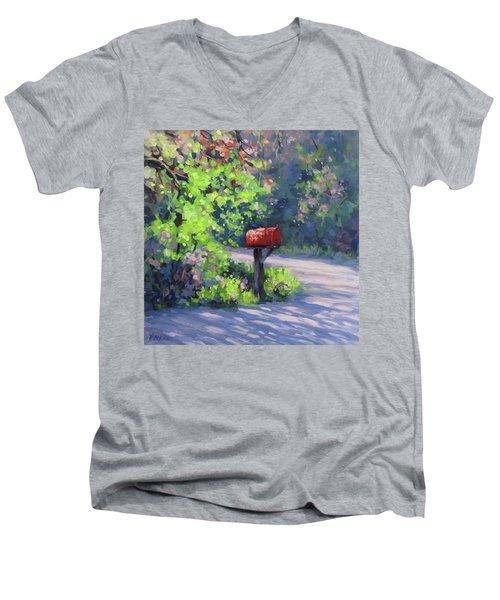 Love Letters Men's V-Neck T-Shirt by Karen Ilari
