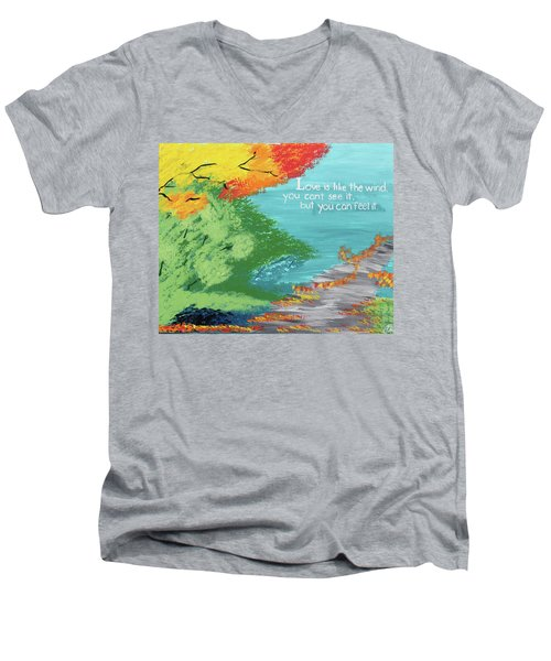 Love Like The Wind Men's V-Neck T-Shirt by Cyrionna The Cyerial Artist